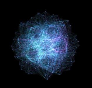 canvas画布特效代码与CSS动画属性样式制作超级绚丽的线性粒子动画效果