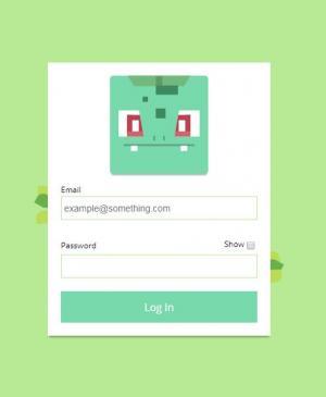 jQuery网页特效代码和CSS属性布局个性简单的用户登录表单界面
