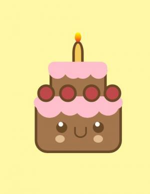 纯CSS3设计制作带背景动画效果的卡通蛋糕图像样式代码