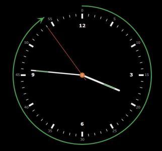HTML网页标签与js时间代码设计制作带进度条效果的圆形时钟