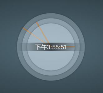 js网页时钟代码与CSS3设计制作3D圆形时钟鼠标移动特效样式代码