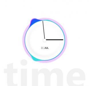 HTML网页时钟代码js与CSS3设计创意圆形时钟动画图像样式效果