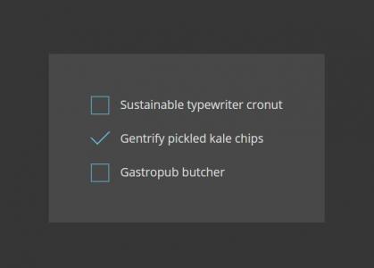 网页属性选择器样式CSS设计制作简单的CheckBox复选框卡片样式效果