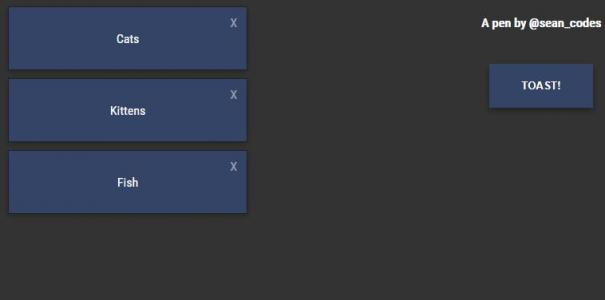 jQuery代码和CSS3设计制作简单的信息提示语鼠标点击按钮滑动展示效果