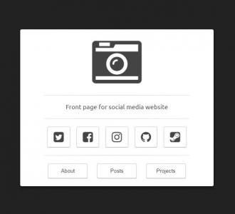 纯CSS3网页样式代码设计制作简单的icon媒体图标样式效果