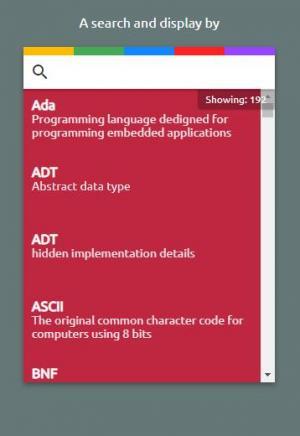 移动APP开发设计大全HTML5和CSS3制作红色风格带搜索功能的APP列表网页模板