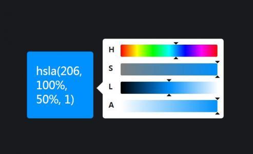 js网页特效代码与CSS色彩属性样式制作滑块式调色板样式效果
