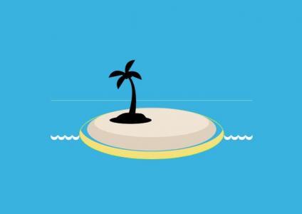 纯CSS3网页属性样式制作卡通海岛图像样式效果HTML网站卡通素材下载网站