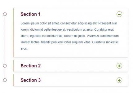 CSS3滑动属性样式代码和HTML布局垂直手风琴鼠标点击内容滑动切换效果