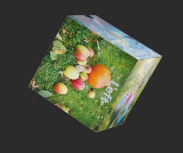 HTML网页3D动画设计网站js代码和CSS3实现图片拼图3D立方体旋转展示动画特效
