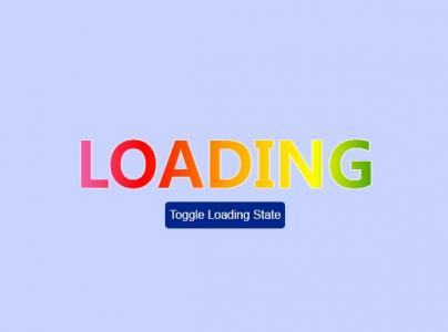 HTML网页文字属性特效代码制作带动画渐变背景的loading文字切换效果