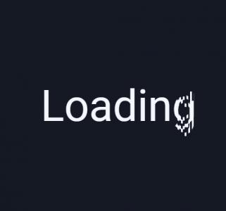 CSS3代码和js设计创意网站数据加载loading字母图标拆分合并动画效果