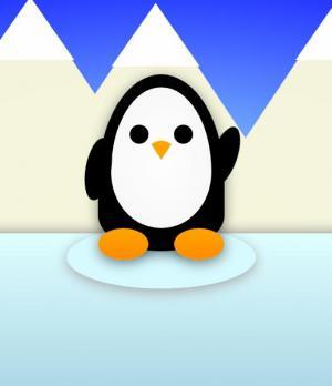 纯CSS3网页动画代码绘制可爱小企鹅招手图像样式动画效果