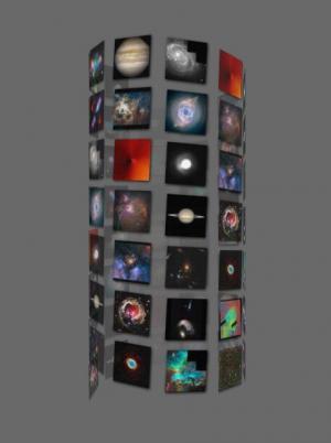 JavaScript网页图片特效代码和CSS3旋转动画设计制作3D万花筒图像旋转动画效果