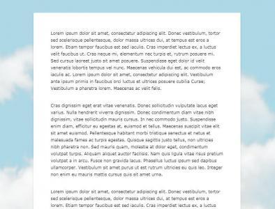 HTML代码与CSS3网站布局设计制作简单的网页静态页面鼠标滚动背景图像悬浮固定效果