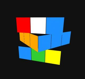 纯CSS3网站动画素材设计与制作3D立体魔方图形旋转动画效果