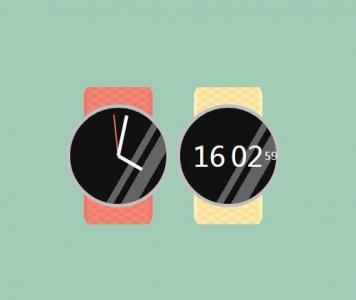 JavaScript网站时钟代码和CSS3设计大气创意逼真手表图像样式效果