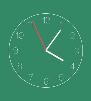 js网页时钟代码和CSS3圆角属性样式代码设计制作简单的圆形时钟样式效果