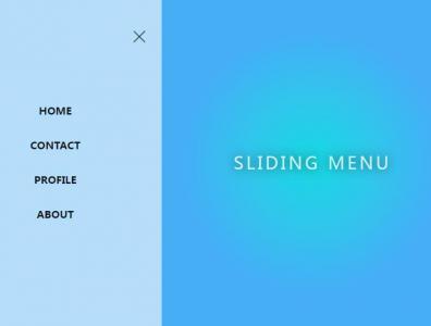 JavaScript网页特效代码和HTML布局设计侧边栏鼠标点击弹性滑动展示效果