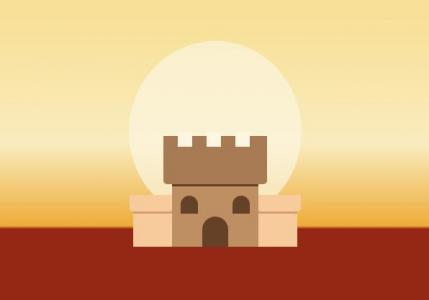 纯CSS3网站卡通图像设计代码绘制卡通日出图像样式效果