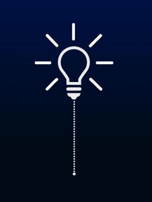 HTML网页简笔画图标素材制作代码CSS3样式绘制简笔画灯泡图像样式效果