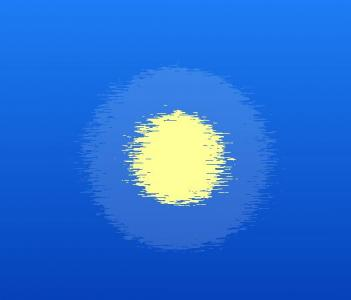 纯CSS3网页特效代码绘制粒子群组成虚幻圆形图像动画效果