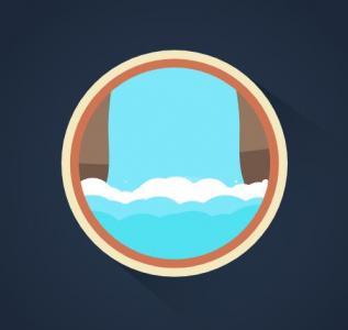 JavaScript网站特效代码与CSS3动画属性样式设计制作圆形卡通瀑布图像动画效果