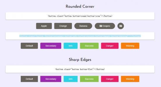 CSS3网页样式表选择器代码与HTML标签设计制作站长常用按钮样式效果
