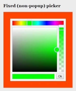 vue.js代码和HTML标签属性样式设计制作网页拾色器调色面板素材样式效果