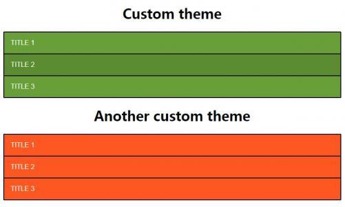 HTML网页布局样式代码与CSS3选择器样式表设计制作多款垂直菜单列表鼠标点击展开收缩代码