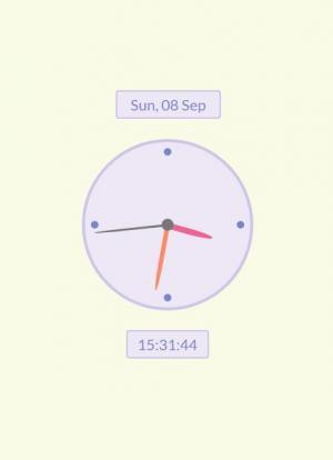 JavaScript网页时钟带与CSS3样式设计制作圆形时钟图像和时钟时钟样式代码