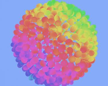 HTML5标签样式代码与JavaScript特效绘制超级炫酷多彩的3D花瓣图像样式效果