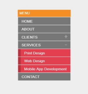 HTML网站布局设计代码canvas画布设计制作垂直菜单列表样式效果鼠标点击展开收缩代码