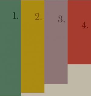纯CSS网页选择器代码与HTML标签布局制作垂直手风琴鼠标点击展开收缩效果