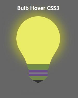 纯CSS3网页素材属性样式代码绘制卡通电灯泡图像鼠标滑过发光样式效果