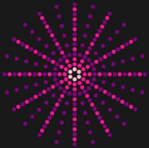 canvas网站特效代码与HTML标签样式设计制作色彩粒子绘制成背景图案样式效果