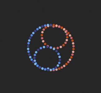 纯CSS3网页设计网站代码绘制loading图标粒子圆形旋转加载动画效果