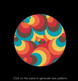 HTML5网页特效代码canvas画布绘制超级绚丽多彩的色彩圆圈图案旋转动画效果