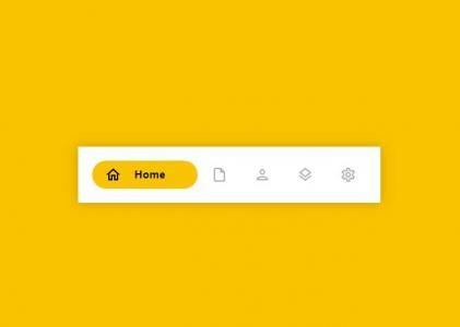 CSS3与HTML标签代码设计制作简单带icon图标的网站导航鼠标点击导航背景滑动切换动画效果