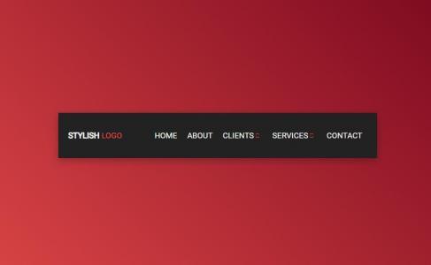 网页特效代码jQuery与HTML标签样式设计制作大气网站首页导航样式效果