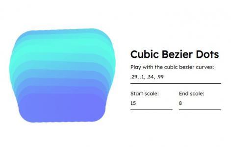 JavaScript网页素材特效代码与CSS动画设计制作圆角正方形波浪式动画效果