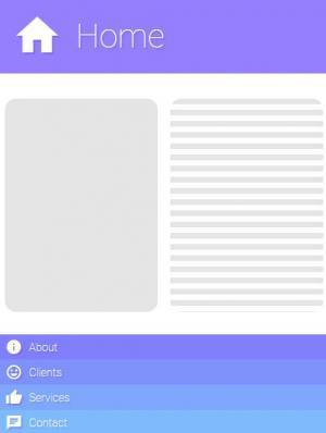 jQuery网站特效代码与HTML标签布局制作网页垂直导航菜单样式效果