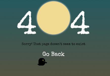 HTML网站404静态页面设计与制作CSS3动画选择器代码设计创意个性404静态页面