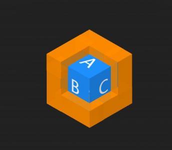 HTML网页3D特效代码JavaScript与CSS设计制作3D立体图形旋转动画效果