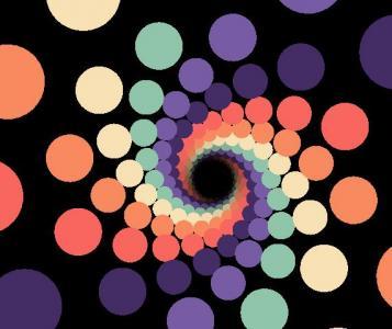 CSS特效网站代码与canvas网页特效设计制作超级酷炫黑洞图像旋转动画效果