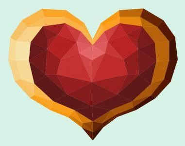 js网站特效代码与HTML动画属性样式绘制3D爱心图形鼠标点击拆分组合动画效果