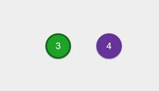 CSS3网页圆角数字按钮设计代码与JavaScript实现鼠标点击数字按钮全屏切换动画效果