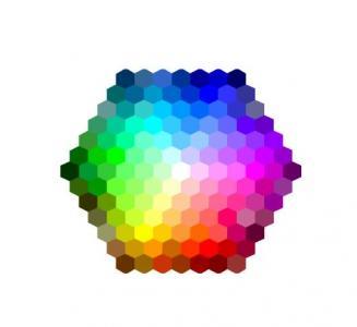 CSS网页色彩属性样式与HTML标签代码布局制作六边形拾色器面板样式效果