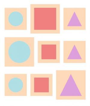 HTML网页几何图形标签与CSS样式代码绘制不同色彩的几何图形样式效果