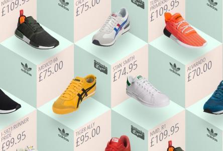 JavaScript代码与HTML5网页布局设计制作旗舰店商品鞋子展示样式效果